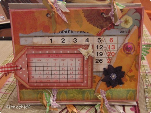 Вот такой календарь я сделала себе на работу фото 7