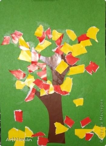 Обрывная аппликация из бумажных салфеток. фото 2