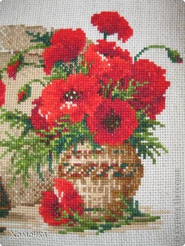 """Вышивка по набору фирмы """"Риолис"""", размер 30х24, нитки шерсть/акрил 18 цветов. вышила за 3 недели с огромным удовольствием. Схема совсем несложная, а результат порадовал.  фото 3"""