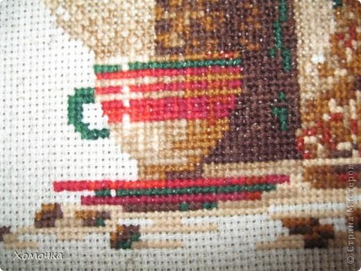 """Вышивка по набору фирмы """"Риолис"""", размер 30х24, нитки шерсть/акрил 18 цветов. вышила за 3 недели с огромным удовольствием. Схема совсем несложная, а результат порадовал.  фото 5"""