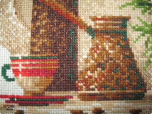 """Вышивка по набору фирмы """"Риолис"""", размер 30х24, нитки шерсть/акрил 18 цветов. вышила за 3 недели с огромным удовольствием. Схема совсем несложная, а результат порадовал.  фото 4"""