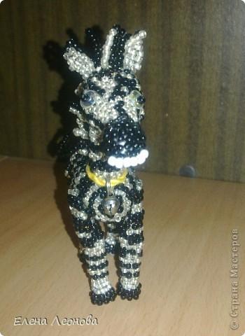 Вот такая зеброчка у меня получилась из бисера. Первая работа в стиле мозаичного плетения. фото 5