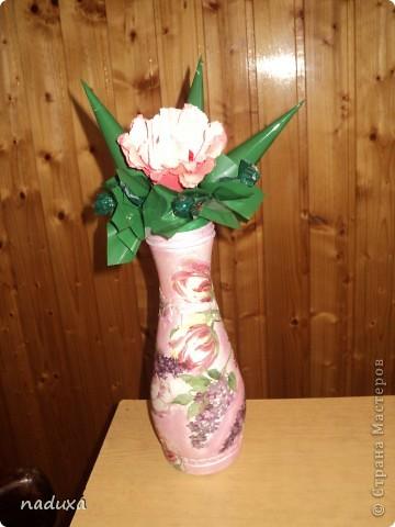 Бутылочка превращенная в вазу фото 4