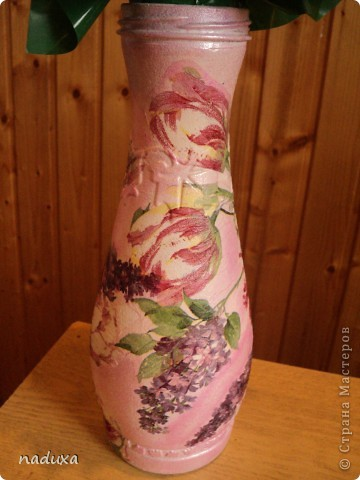 Бутылочка превращенная в вазу фото 1