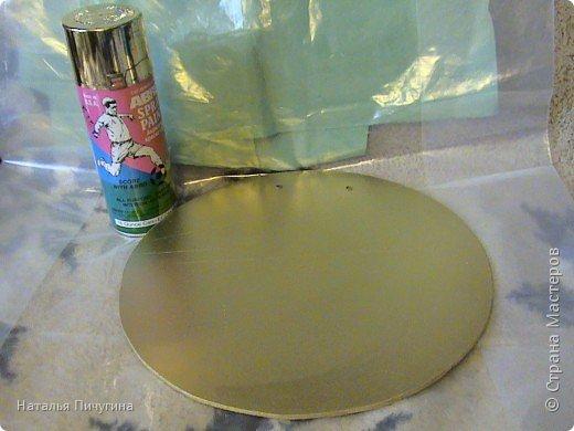 Захотелось сделать вещь не только красивую, но и функциональную. Диаметр круга 30 см, а диаметр самого зеркала 18 см. фото 4