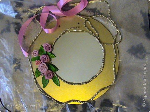 Захотелось сделать вещь не только красивую, но и функциональную. Диаметр круга 30 см, а диаметр самого зеркала 18 см. фото 7