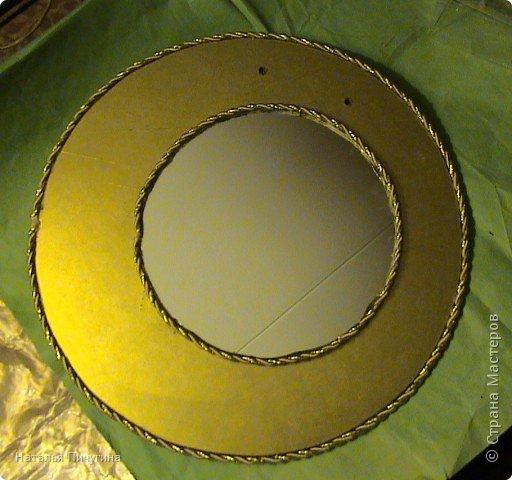 Захотелось сделать вещь не только красивую, но и функциональную. Диаметр круга 30 см, а диаметр самого зеркала 18 см. фото 9
