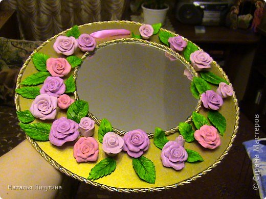 Захотелось сделать вещь не только красивую, но и функциональную. Диаметр круга 30 см, а диаметр самого зеркала 18 см. фото 20