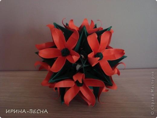 """Кусудама"""" Двойная Динара"""", тот, кто еще ее не делал- сделайте! Модули очень легкие, но нужно сделать 120 штук!  фото 2"""