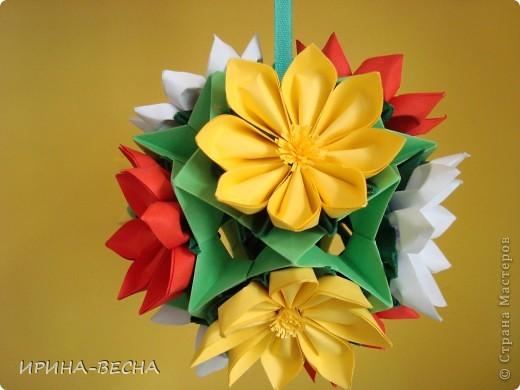 """Кусудама"""" Двойная Динара"""", тот, кто еще ее не делал- сделайте! Модули очень легкие, но нужно сделать 120 штук!  фото 5"""