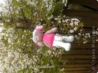 Поскольку я была на выходных у бабушки, то сфотографировала её в бабушкином саде)) Вот вам куколка хвастоется как она умеет на шпогат садится) фото 3