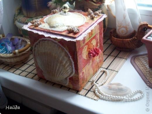 неудачный коробок,переделанный в ларчик фото 2