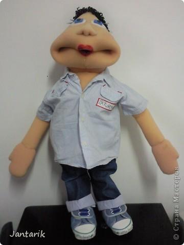 Это моя первая кукла,сделанная из пароллона.Одет в детскую одежду-подошло по размеру. фото 2