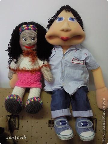 Это моя первая кукла,сделанная из пароллона.Одет в детскую одежду-подошло по размеру. фото 7