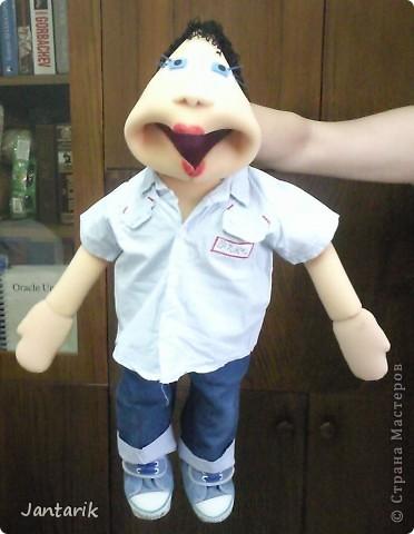 Это моя первая кукла,сделанная из пароллона.Одет в детскую одежду-подошло по размеру. фото 8