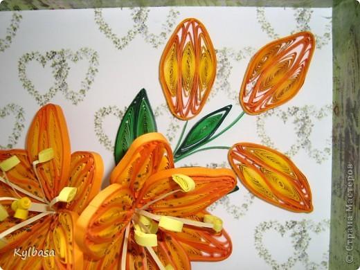 Скоро день Рождения моей мамы. И зовут ее Лилия. Обычно я дарю ей живые лилии, но в этом году, вдохновившись работами местных мастериц, решила  сделать вот такие.  фото 5