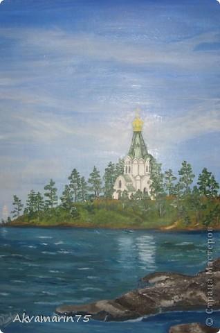 церковь Св Николая, грунтбумага, масло. Это одна их моих первых работ маслом