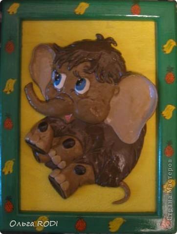 Картины для детской комнаты. Этого ёжика подглядела у Светлячка и К. Ну очень вдохновляют её работы, хочется перелепить всё!!! фото 2