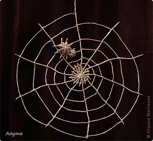 Паучек в серебряной паутине по МК Валентины Марковой
