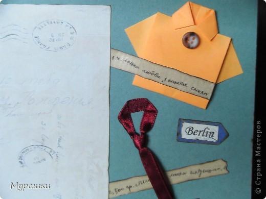 """Опять та самая любимая крафт-бумага. Обожаю. Тема открытки """"Испания"""", т.к. мальчик учится в испанской школе. фото 5"""