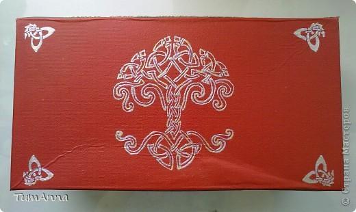 коробка обувная обыкновенная и ещё одна, из под чего я уже не помню ^_^. Узоры нарисованы контурной краской. фото 3