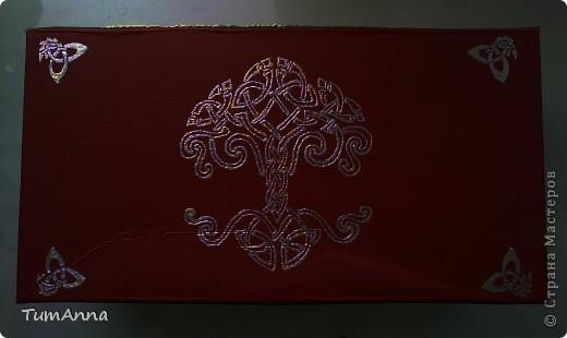 коробка обувная обыкновенная и ещё одна, из под чего я уже не помню ^_^. Узоры нарисованы контурной краской. фото 4