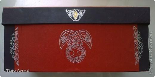 коробка обувная обыкновенная и ещё одна, из под чего я уже не помню ^_^. Узоры нарисованы контурной краской. фото 5