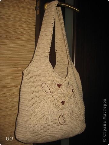 Увидев МК Голубки я просто влюбилась в вязанные сумки. фото 2