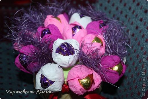 Мои первые букеты из конфет))) Не судите строго... фото 1