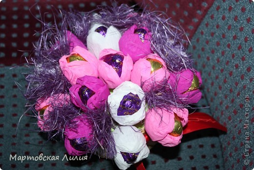 Мои первые букеты из конфет))) Не судите строго... фото 2
