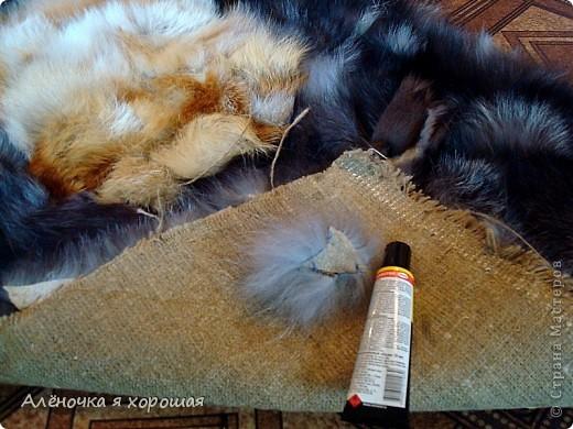Прикроватный коврик из меховых отходов. фото 2