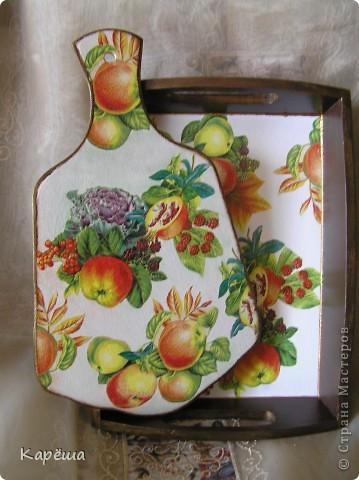 Здравствуйте, дорогие девочки!  Сделала еще немного досочек, и теперь они у меня закончились. ))) Сначала яблочно-осенний комплектик.   фото 1