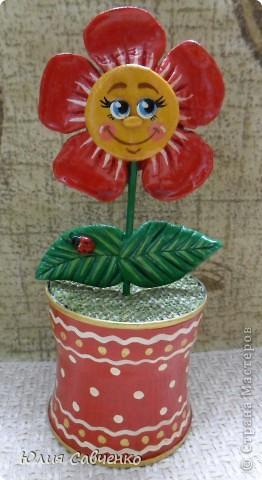 Привет!Очень рада всем!Вот такие цветочки сделала для сыночка в его комнату,будут стоять у него на окошке. фото 5