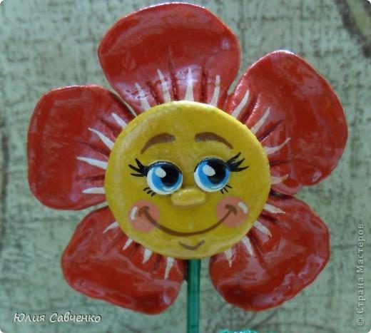 Привет!Очень рада всем!Вот такие цветочки сделала для сыночка в его комнату,будут стоять у него на окошке. фото 6