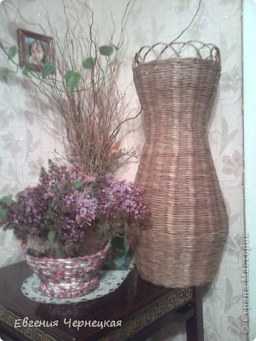 Вот такую вазочку сплела!!! фото 3