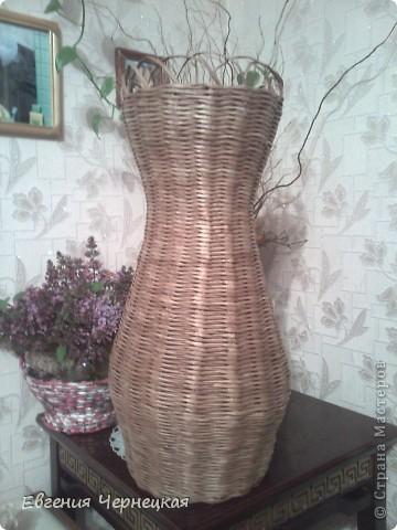 Вот такую вазочку сплела!!! фото 1