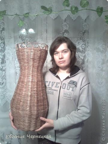 Вот такую вазочку сплела!!! фото 5