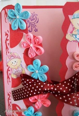 открыточка для майской именинницы. попросила подруга сделать для своей подруги)) фото 2