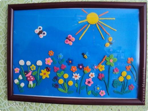 Картинка висит в детском саду, несколько раз падала, поэтому лучик отвалился.
