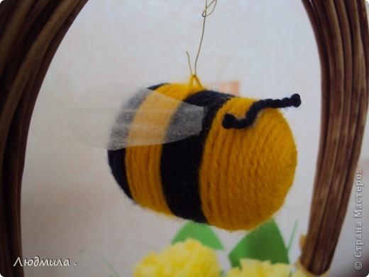 Сверху пчелка- никак не хотела остановиться, все летала и летала. фото 4
