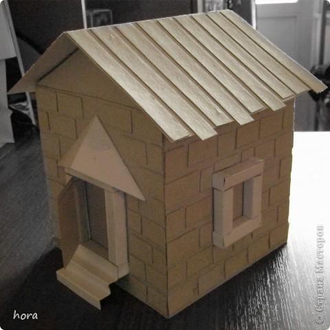 картонный домик фото 1