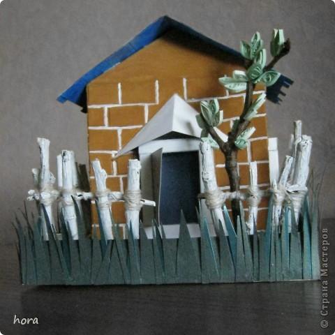 картонный домик фото 3