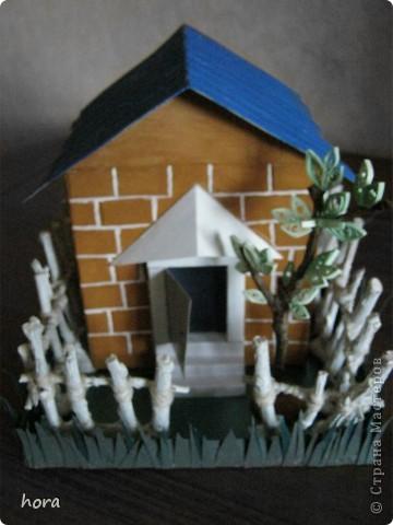 картонный домик фото 4