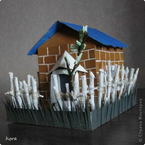 картонный домик фото 5