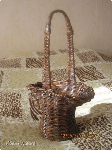 Корзинка (кашпо) для цветов. фото 1