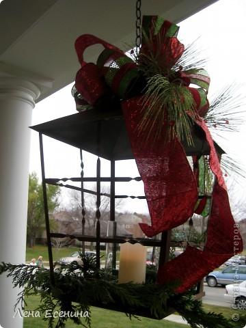 """Хочу рассказать о том, как оформляют дома на Рождество в Америке... Мне уже пора открывать серию """"Как это в США..."""" :)) Это украшен кухонный стол. фото 4"""