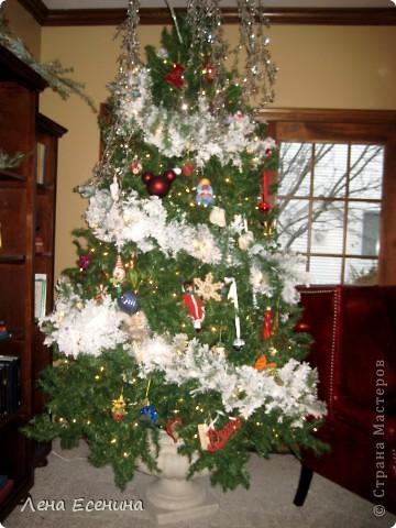 """Хочу рассказать о том, как оформляют дома на Рождество в Америке... Мне уже пора открывать серию """"Как это в США..."""" :)) Это украшен кухонный стол. фото 10"""