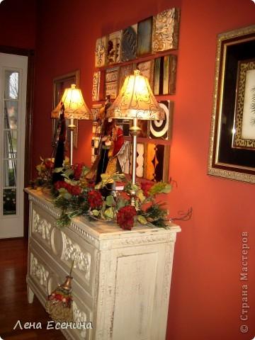 """Хочу рассказать о том, как оформляют дома на Рождество в Америке... Мне уже пора открывать серию """"Как это в США..."""" :)) Это украшен кухонный стол. фото 5"""