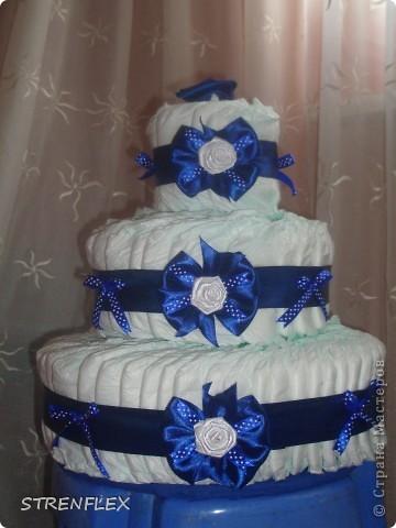 Вот выставляю обещанный тортик для богатыря Илюши. Памперсы в этом тортике выложила по-другому! За эту идею огромное спасибо Викторие Борзовой http://stranamasterov.ru/node/190055?c=favorite фото 1