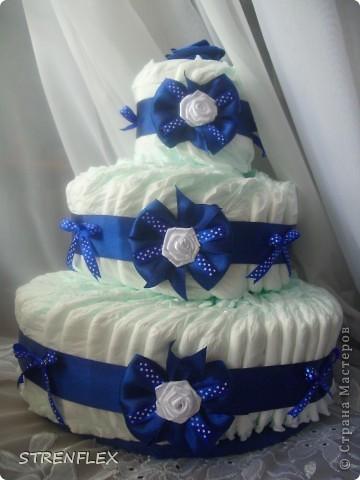 Вот выставляю обещанный тортик для богатыря Илюши. Памперсы в этом тортике выложила по-другому! За эту идею огромное спасибо Викторие Борзовой http://stranamasterov.ru/node/190055?c=favorite фото 2